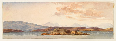 The Island of Mull from Crinan bay by Margaret Louisa Herschel - print