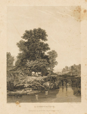 A Composition by Augustus Wall Callcott - print
