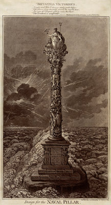 Britannia Victorious... Design for the Naval Pillar by James Gillray - print