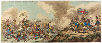 French Invasion or Buonaparte Landing in Great Britain by James Gillray - print
