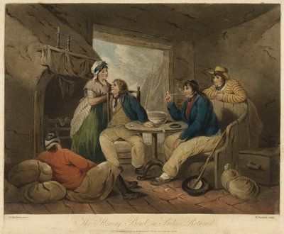 The Flowing Bowl, or, Sailors Return'd by George Morland - print