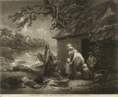 No.10. The Fisherman's Hut by George Morland - print