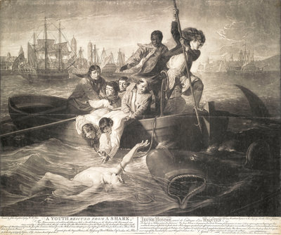 A youth rescued from a shark by John Singleton Copley - print