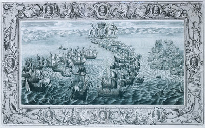 The Spanish Armada, 1588 by C. Lempriere - print