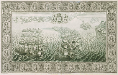Armada 1588. 27th July the pursuit up the Straits by C. Lempriere - print