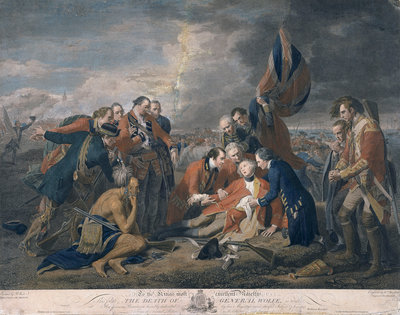 The death of General Wolfe by Benjamin West - print
