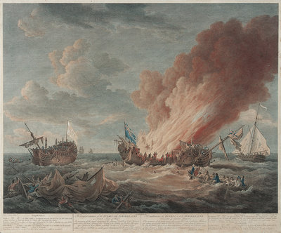 The distressed situation of the 'Quebec' and the 'Surveillante', 6 October 1779 by Richard Paton - print