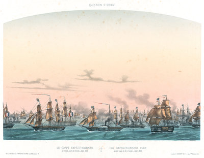 The expeditionary body on the way to the Crimea - September 1854 by Louis Le Breton - print