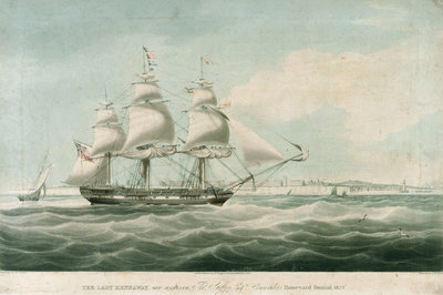 The 'Lady Kennaway' off Margate by William John Huggins - print