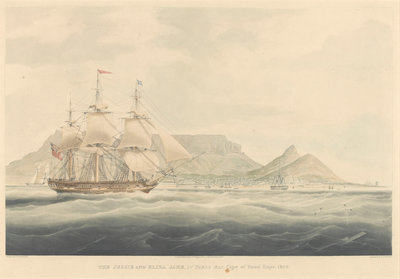 The Jessie and Eliza Jane in Table Bay, Cape of Good Hope, 1829 by Edward Duncan - print