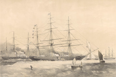 Clipper Ship 'Schomberg' (1855) Fine Art Print by G.H. Andrews