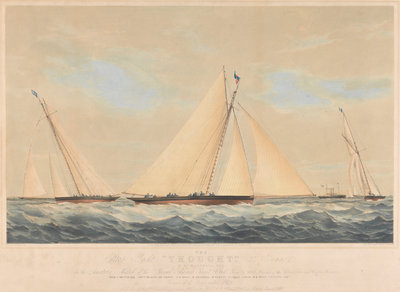 The Cutter Yacht 'Thought' (1854) in 1860 by Josiah Taylor - print