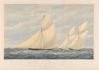 The Cutter Yacht Glance, 36 Tons by Josiah Taylor - print