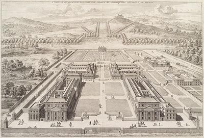 A prospect of Greenwich Hospital for Seamen as designed and Advancing An. MDCXCIX. by Johannes Kip - print