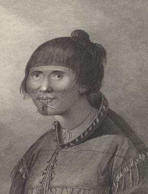 A woman of Oonalashka by John Webber - print
