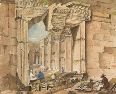 Gateway of the Temple of the Sun, Baalbec by Harry Edmund Edgell - print
