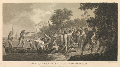 The landing at Erramanga, one of the New Hebrides by William Hodges - print