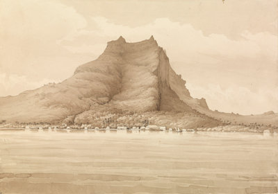 Bora bora, Septr 4th 1849 [Society Islands] by Edward Gennys Fanshawe - print