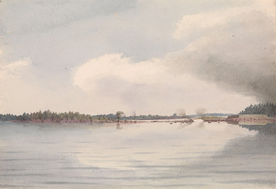 Kotka bridge, burnt July 26th 1855 [Finland] by Edward Gennys Fanshawe - print
