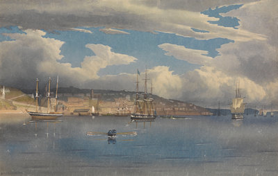 Queenstown [Cobh], Ireland, 1856 by Edward Gennys Fanshawe - print