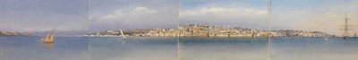 Panorama of Lisbon, Portugal, 1856 by Edward Gennys Fanshawe - print