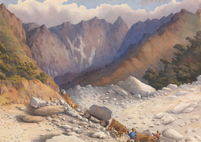 Quarries near Carrara, July 1857 [Italy] by Edward Gennys Fanshawe - print