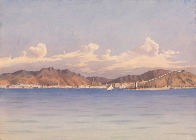 Malaga, Augt 14th 1857 [Spain] by Edward Gennys Fanshawe - print