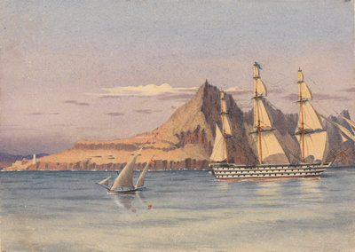 Europa Point, Gibraltar, Augt 29th 1857 by Edward Gennys Fanshawe - print