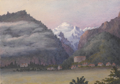 Jungfrau from Interlaken, 1877 [Switzerland] by Edward Gennys Fanshawe - print
