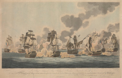 The Battle of Trafalgar, 21 October 1805 by John Thomas Serres - print