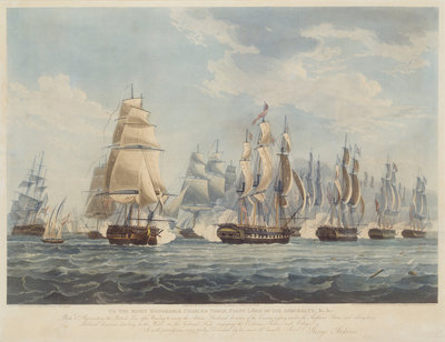 British line engaging the enemy, 1812 by Thomas Whitcombe - print