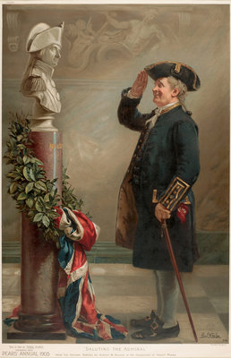 Saluting the Admiral by Albert W. Holden - print
