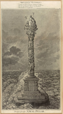 Design for the naval pillar - Britannia Victorious by James Gillray - print