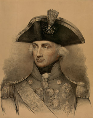 Vice-Admiral Horatio Nelson (1758-1805) by Lemuel Francis Abbott - print