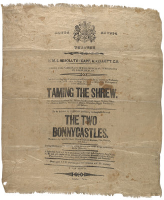 Playbill for Taming of the Shrew by unknown - print