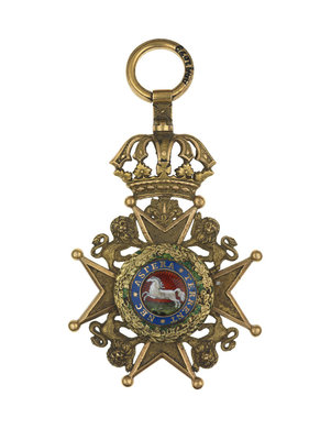 Badge: Royal Hanovarian Guelphic Order, 2nd class by unknown - print