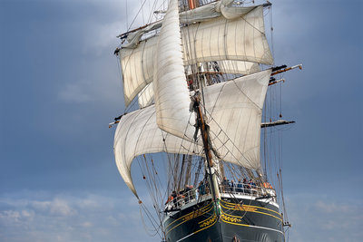 Full-rigged ship 'Stad Amsterdam' North Sea Regatta 2010 by Richard Sibley - print