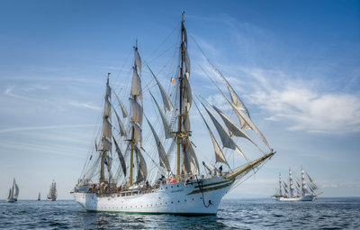 Norwegian full-rigged ship 'Sorlandet' during Waterford Tall Ships Race, 2011 by Richard Sibley - print