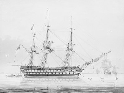 HMS 'Donegal' by George Pechell Mends - print