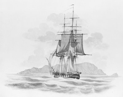 'The Rover' (?) stern on, at sea by unknown - print
