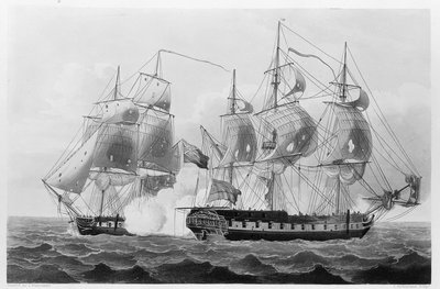 Capture of the 'Liguria', 7 August 1798 by Thomas Whitcombe - print