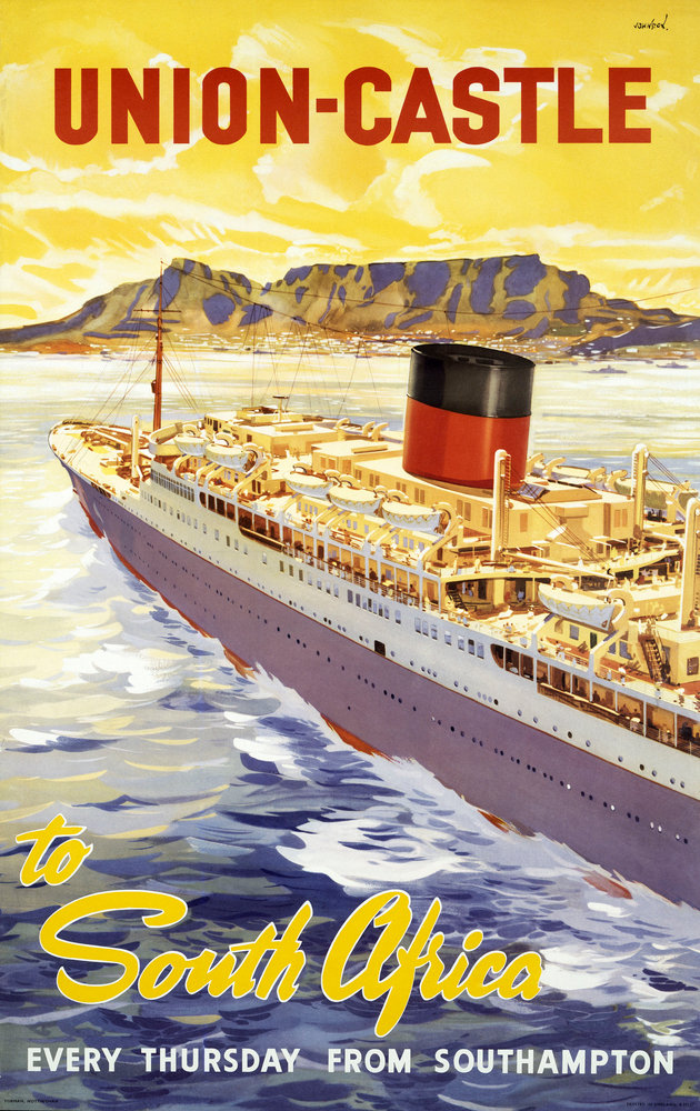 Union Castle Line Poster South Africa Unknown Royal
