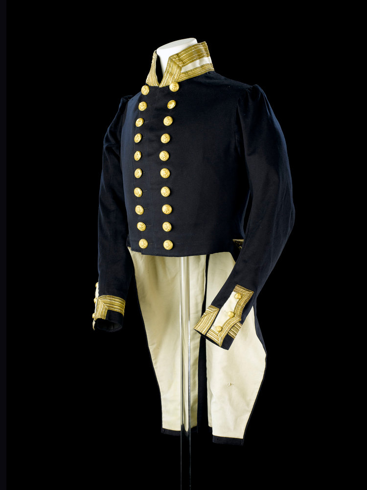 Full dress coat, Royal Naval uniform: pattern 1843 by Clancy
