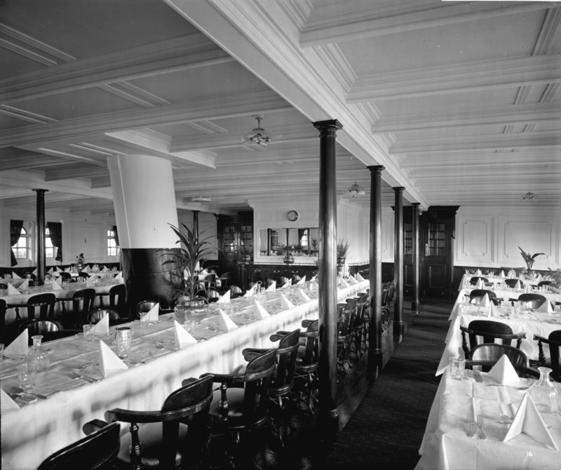 Second Class Dining Saloon On The U0027Balmoral Castleu0027 (1910) By Bedford Lemere Part 84