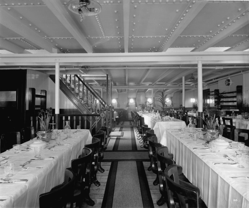 Third Class Dining Saloon On The U0027Balmoral Castleu0027 (1910) By Bedford Lemere Part 50