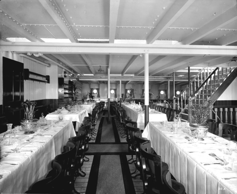 Third Class Dining Saloon On The U0027Balmoral Castleu0027 (1910) By Bedford Lemere Part 14