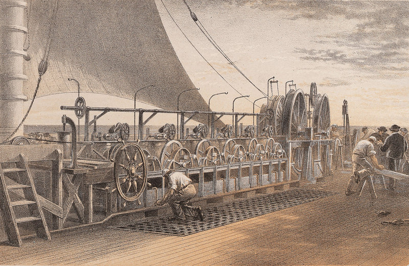 Cable Laying On Ground Art : Paying out machinery on board brunel s great eastern