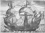 Ark Royal' (1587) by James Cundee - print