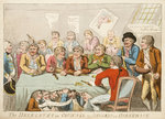 The delegates in council or beggars on horseback by George Cruikshank - print