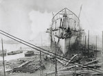 'Great Eastern' under construction at Blackwall, 1858 by Robert Howlett - print
